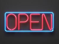 """""""OPEN"""" neon sign"""