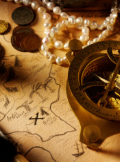 Treasure Map and Nautical Equipment