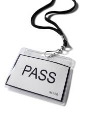 Plastic Visitors Pass Badge