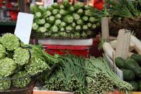 Fresh vegetables in the market stall