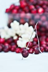 Stringing cranberries and popcorn