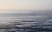 misty ocean in the morning