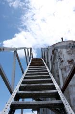 Steel Steps along an Old Oil Tank