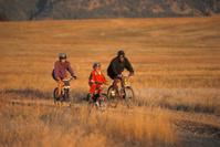 Multi Ethnic Family Mountain Biking