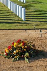 New grave in cemetery