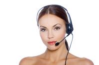 Woman in Headset