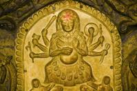 Golden Hindu goddess