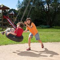 Kids having fun  in playground