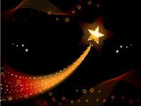 Festive shooting star