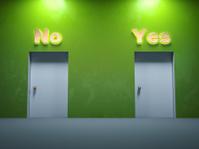 Two door ways yes no