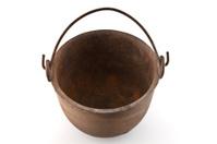 Inside an antique rusting pot