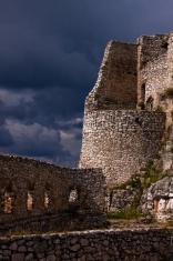 Storm over castle
