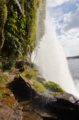Waterfall in Canaima, Venezuela.