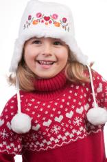 Little girl winter portrait