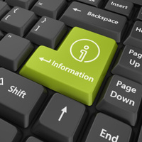 green information enter button