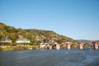 Heidelberg with the Old Bridge over river Neckar