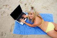 Beach Computer Girl