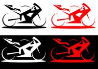 Modern superbike line art style illustration