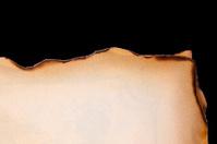 Parchment on black background.