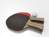 Two Ping-pong Paddles with Ball