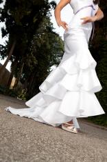 white flamenco dress