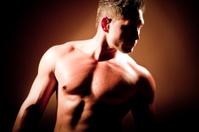 muscular build man