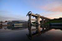 Sunset at the Falkirk Wheel.