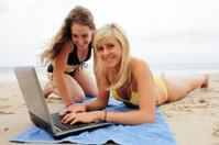 Beach Computer Girls