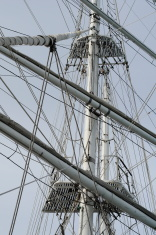 Tall ships mast and rigging.