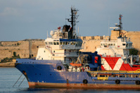 Ocean Support vessels moored in Grand Harbour, Malta