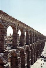 Roman Aqueduct in Segovia - Spain