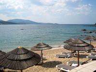 Beach in a Corsican resort