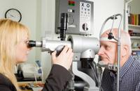 Older man at opticians