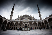 Courtyard of the Sultan Ahmed Mosque