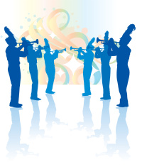 Marching Band Trumpet Line