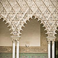 Arches of Reales Alcazares in Sevilla