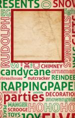 Christmas Word Paper XXXL