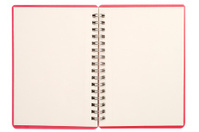 Blank isolated notebook