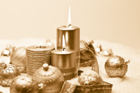 golden christmas theme