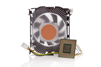 CPU and Cooler isolated on white
