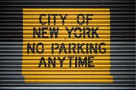 New York City - no parking sign