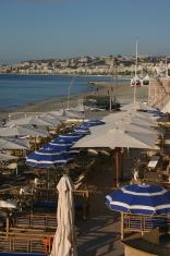 Beach scene in Nice, France