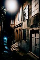 dark narrow alley