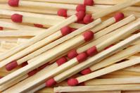 Red matchsticks background