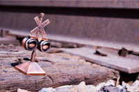Brass Railroad Crossing Pencil Sharpener