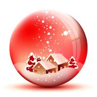 Winter snowy ball