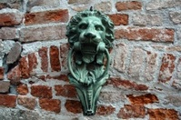 Lion's Head Door Knocker, Venice, Italy.