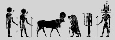 Various Egyptian gods, goddness and symbols