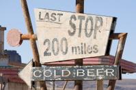 Desert rest area sign