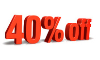 Red 40% off 3D Sign